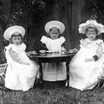 This image from the 1890s of Dorothy, Phyllis and Marjorie Clarke taking tea won a prize from the Toronto Camera Club.