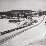 This winter scene of Haliburton village from the early 1900's presents a sleepy image of the community – many of the men were away in the lumber camps and would not return until spring.
