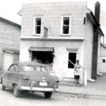 The Kosy Korner restaurant, on Highland Street in Haliburton, has been a fixture since the 1930's. In this photo from the 1950's the owner's 'pet' deer is seen outside the restaurant with a staff member.